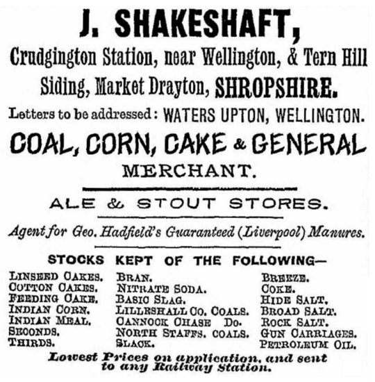 Directory - Kelly's, 1895 advert