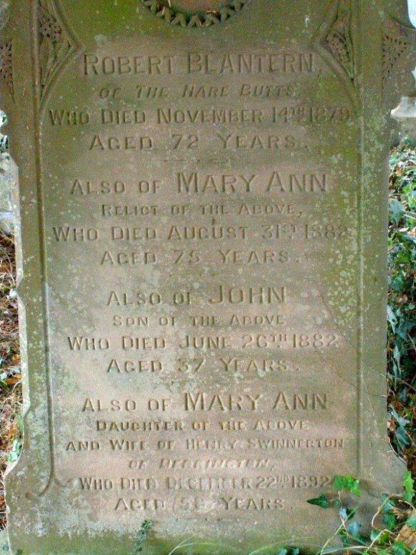Waters Upton MIs - Blantern, Robert, Mary Ann and John