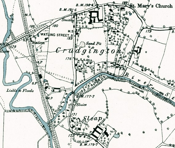 map - Crudgington, Sleap and railway station